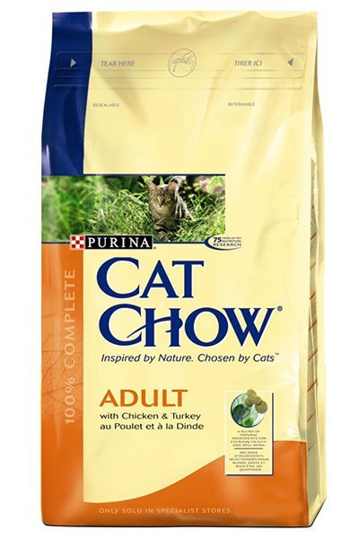 Purina Cat Chow Adult Turkey & Chicken - Hindili Ve Tavuklu Yetişkin Kedi Maması 15 Kg